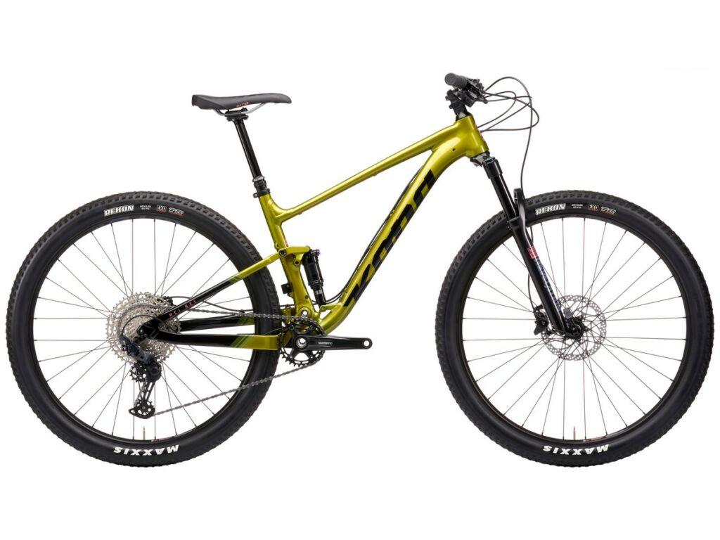 """KONA Hei Hei 2021 29"""" MTB XC kerékpár, Gloss Metallic Olive"""