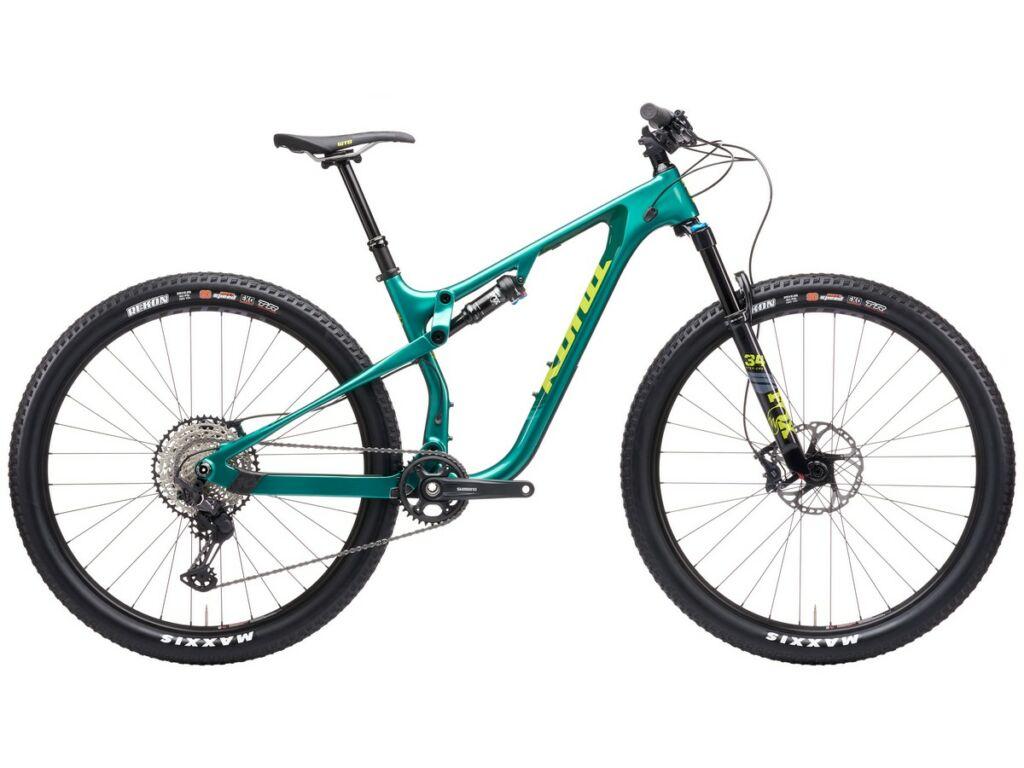 """KONA Hei Hei CR 2021 29"""" MTB XC kerékpár, Gloss Dark Green & Metallic Green"""