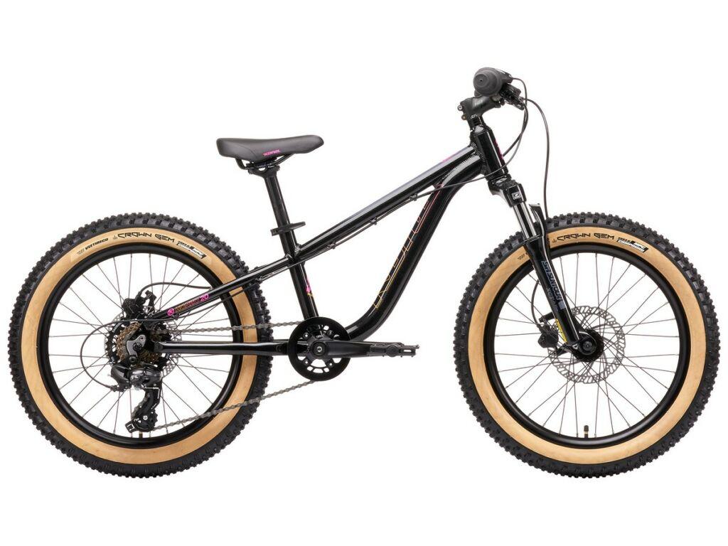 """KONA Honzo 20 2021 20"""" gyermek MTB hardtail kerékpár, Gloss Metallic Black"""