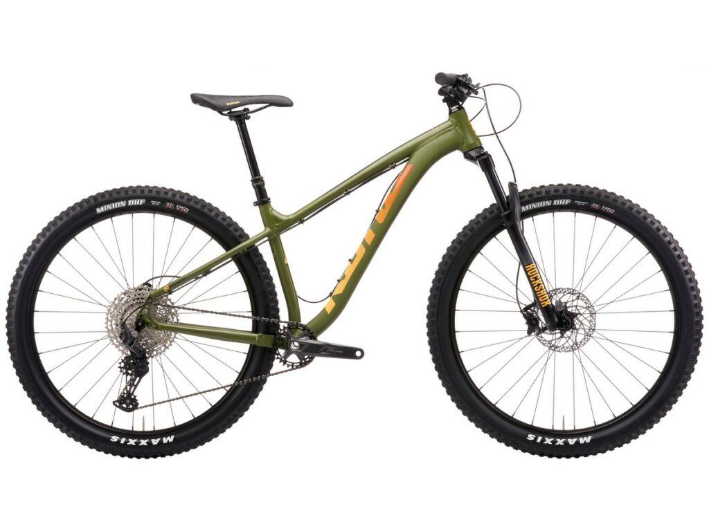 """KONA Honzo 2021 29"""" MTB hardtail kerékpár, Satin Fatigue Green"""