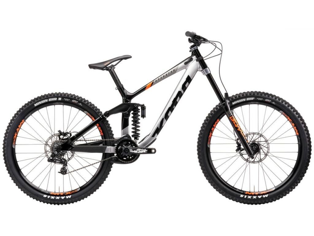 "KONA Operator 2021 27.5"" MTB downhill kerékpár, Gloss Faux Chrome & Black"