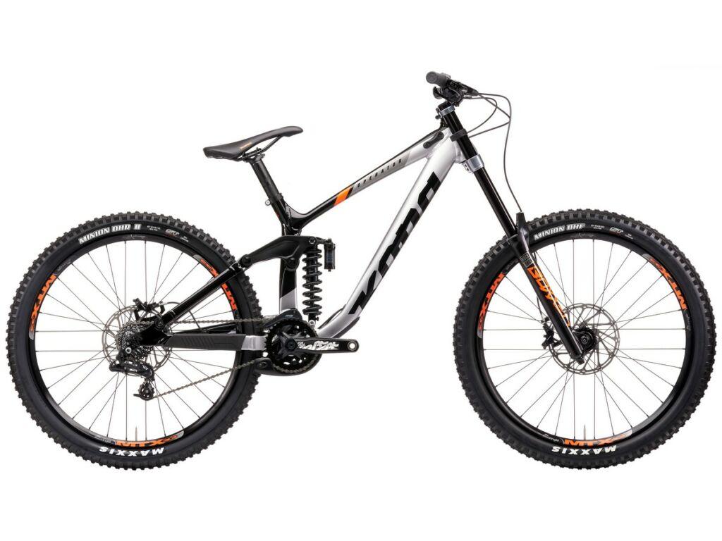 "KONA Operator 2021 27.5"" MTB downhill kerékpár, Gloss Faux Chrome & Black"