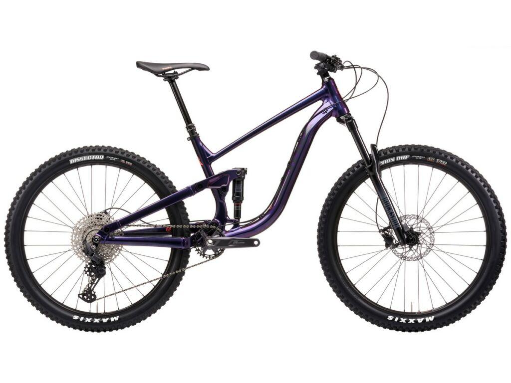 "KONA Process 134 27.5 2021 27.5"" MTB enduro fully kerékpár, Gloss Prism Purple Blue"