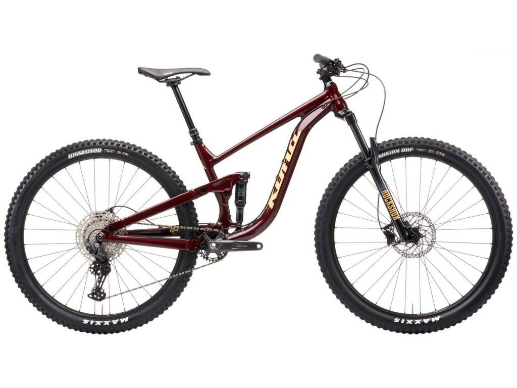 """KONA Process 134 29 2021 29"""" MTB enduro fully kerékpár, Gloss Pinot Noir"""
