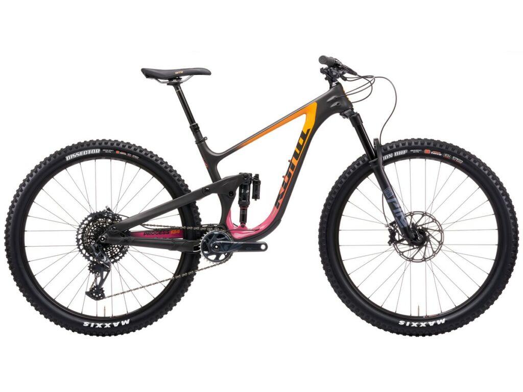 KONA Process 134 CR/DL 29 2021 MTB enduro fully kerékpár, Matt Lead Powder & Gloss Sunset Fade