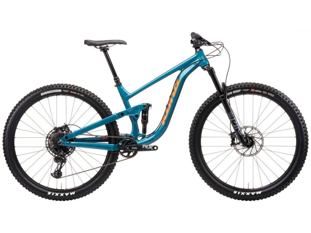 """KONA Process 134 DL 29 2021 29"""" MTB enduro fully kerékpár, Gloss Metallic Emerald Green"""