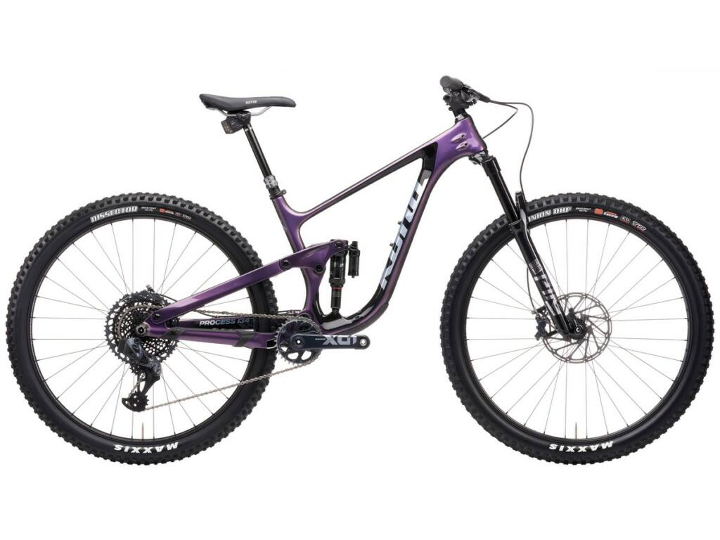 "KONA Process 134 Supreme 2021 29"" MTB enduro fully kerékpár, Gloss Purple - Green Prism"