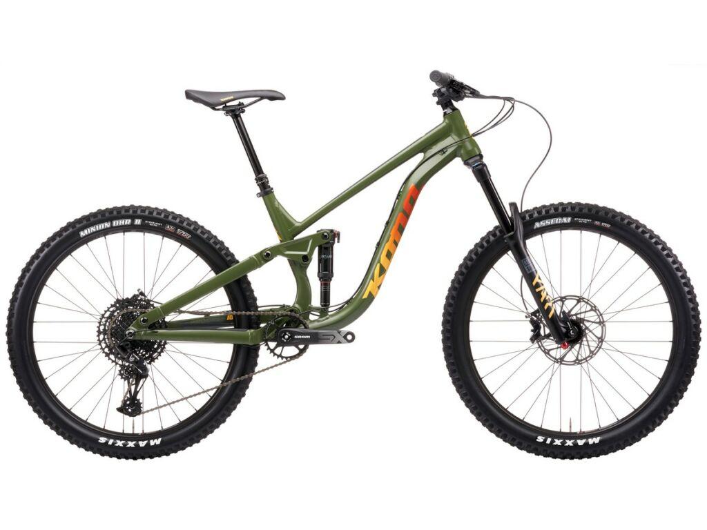 """KONA Process 153 27,5 2021 27.5"""" MTB enduro fully kerékpár, Satin Fatigue Green"""