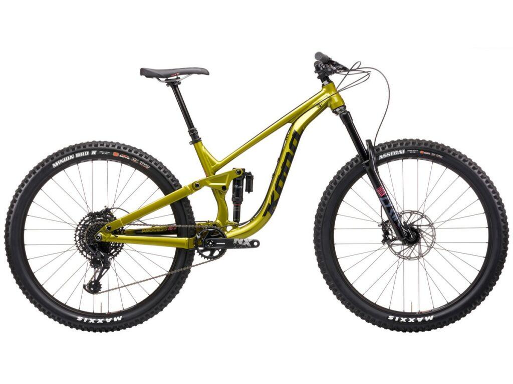 """KONA Process 153 DL 29 2021 29"""" MTB enduro fully kerékpár, Gloss Metallic Olive"""