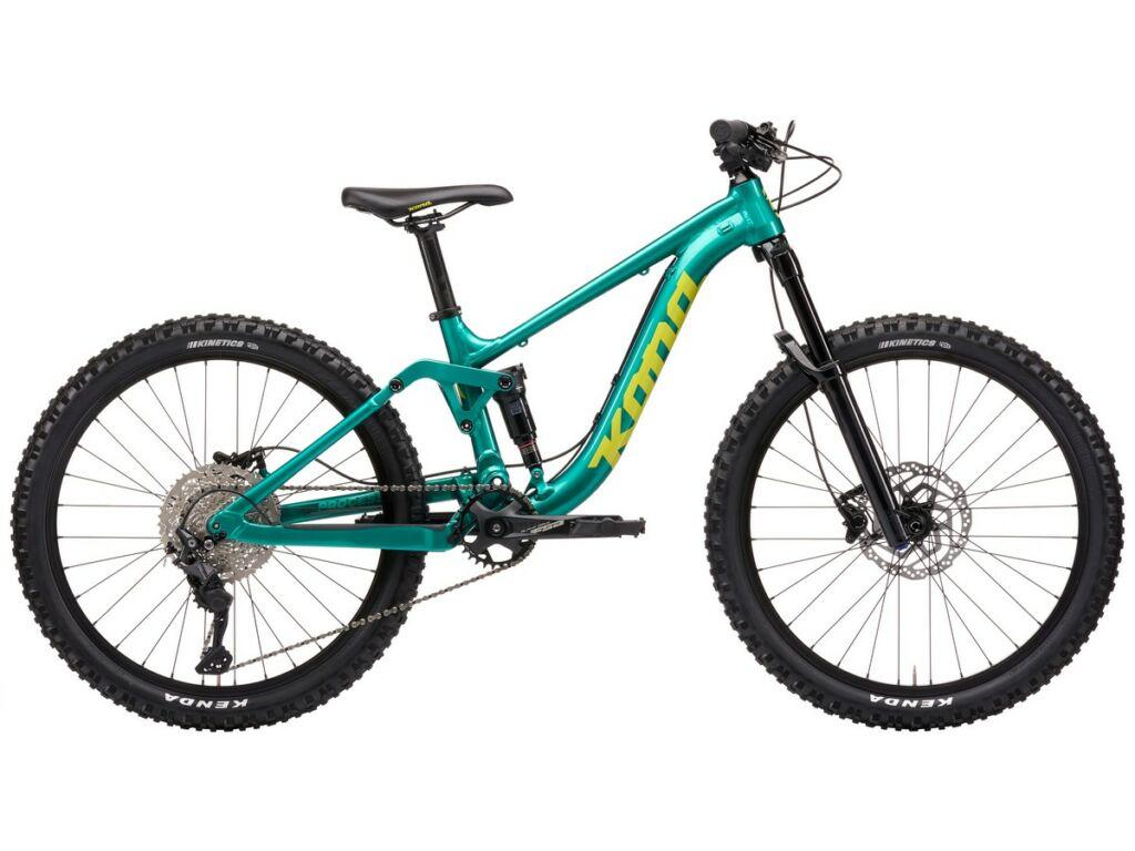 """KONA Process 24 2021 24"""" gyermek MTB fully kerékpár, Gloss Metallic Green"""