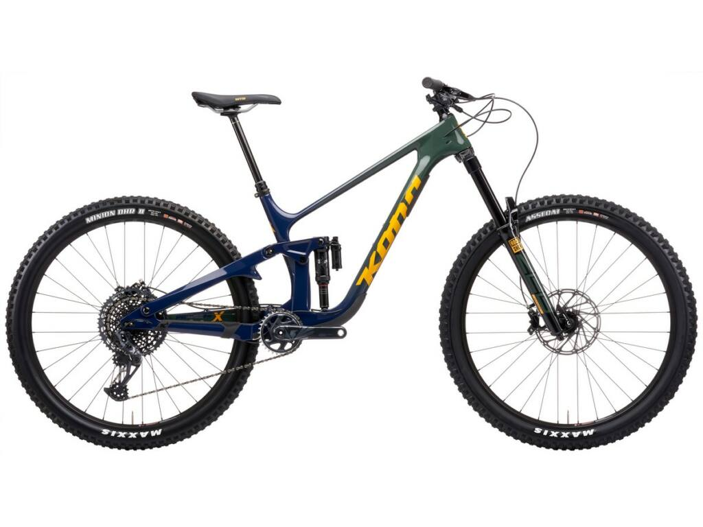"KONA Process X DL 2021 29"" MTB enduro fully kerékpár, Gloss Indigo - Forest Grey Fade"