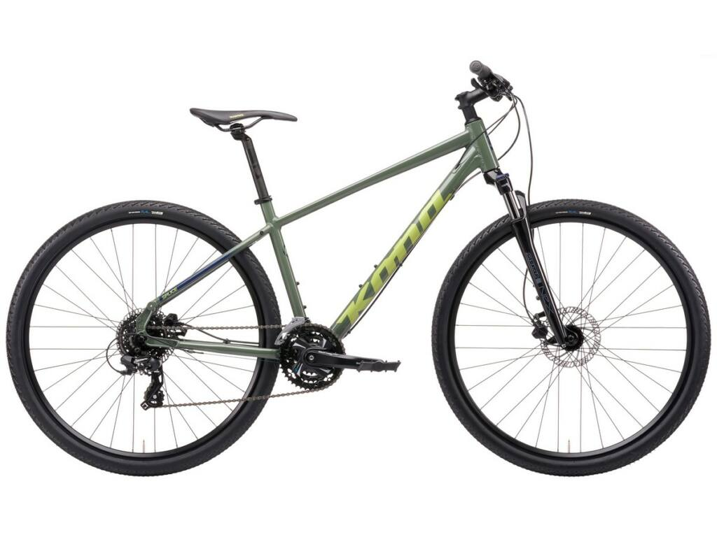 KONA Splice 2021 városi kerékpár, Gloss Concrete Green