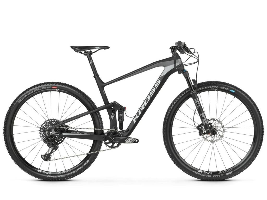"KROSS Earth 4.0 2020 29"" MTB XC fully kerékpár, black / graphite matt"
