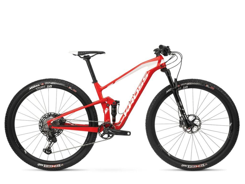 "KROSS Earth TE 2020 29"" MTB fully kerékpár, red / white glossy"