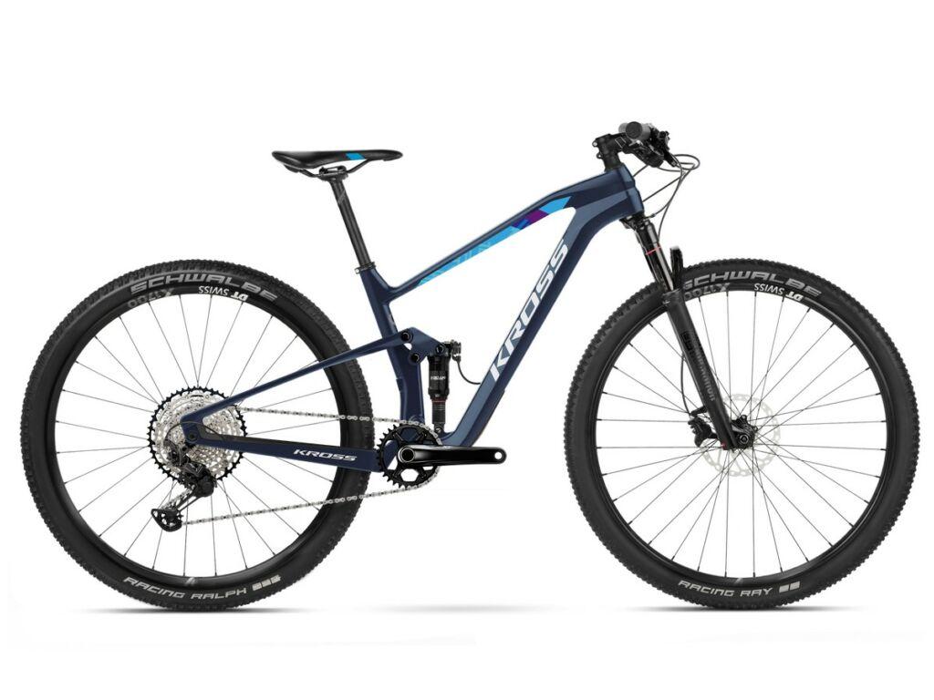 "KROSS Earth Tokyo 2020 29"" MTB XC fully kerékpár, dark blue"