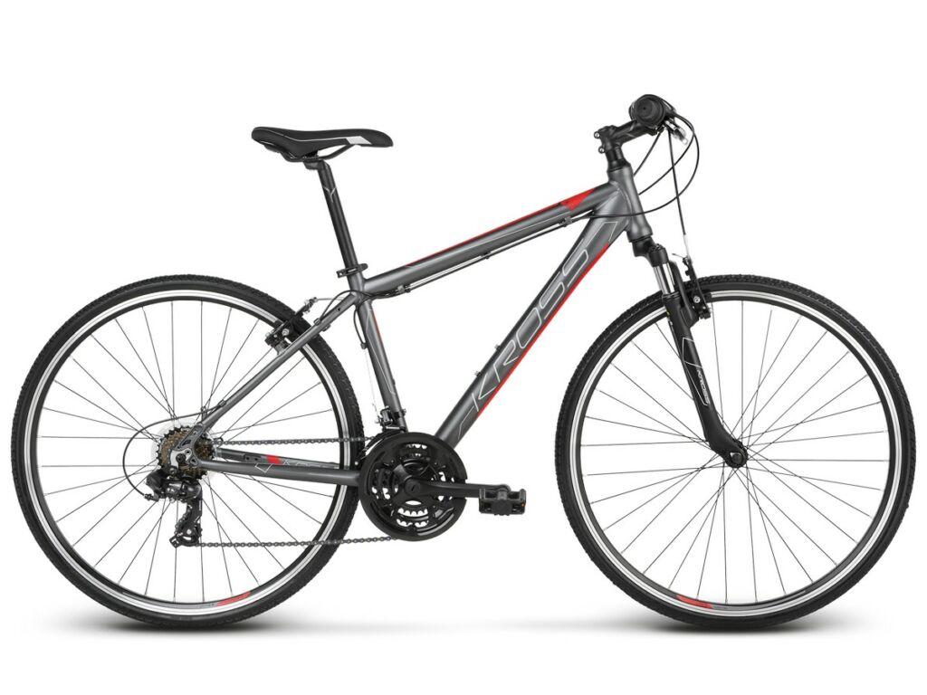 "KROSS Evado 1.0 M 2020 28"" férfi cross kerékpár, graphite / red"