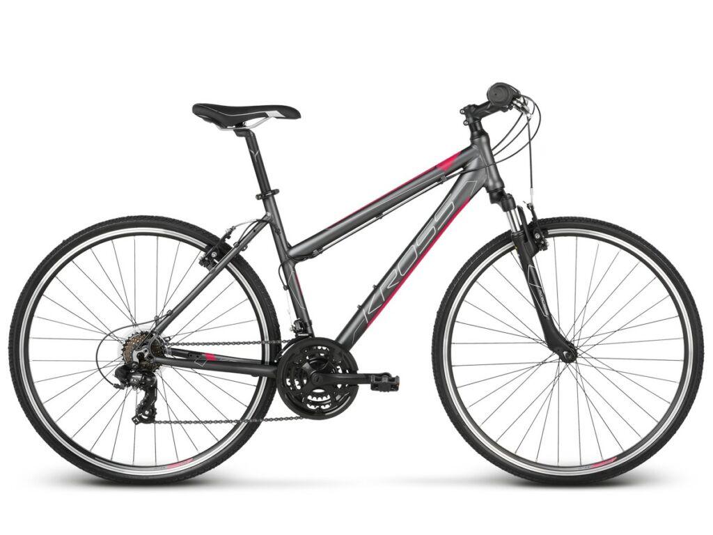 "KROSS Evado 1.0 D 2020 28"" női cross kerékpár, graphite/raspberry"