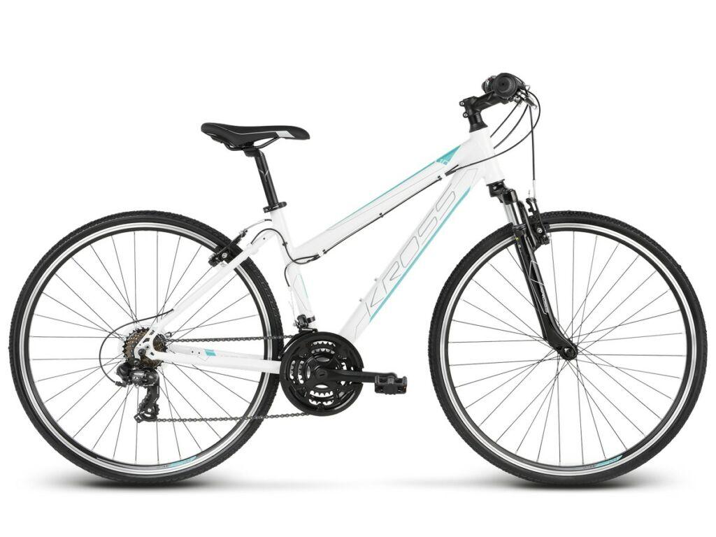 "KROSS Evado 1.0 D 2020 28"" női cross kerékpár, white / turquoise"