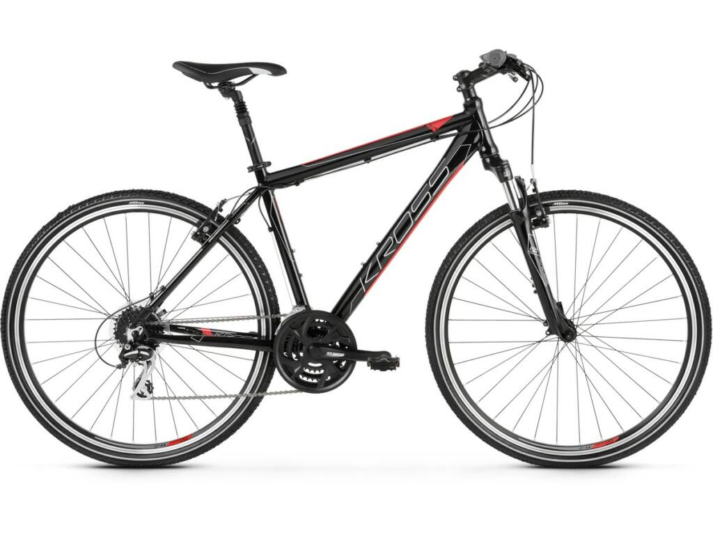 "KROSS Evado 3.0 M 2020 28"" férfi cross kerékpár, black / red"