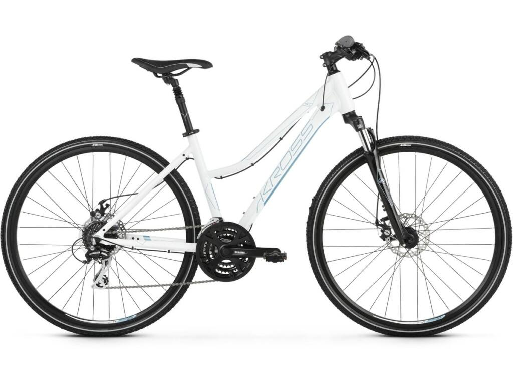 "KROSS Evado 4.0 D 2020 28"" női cross kerékpár, white / steel"