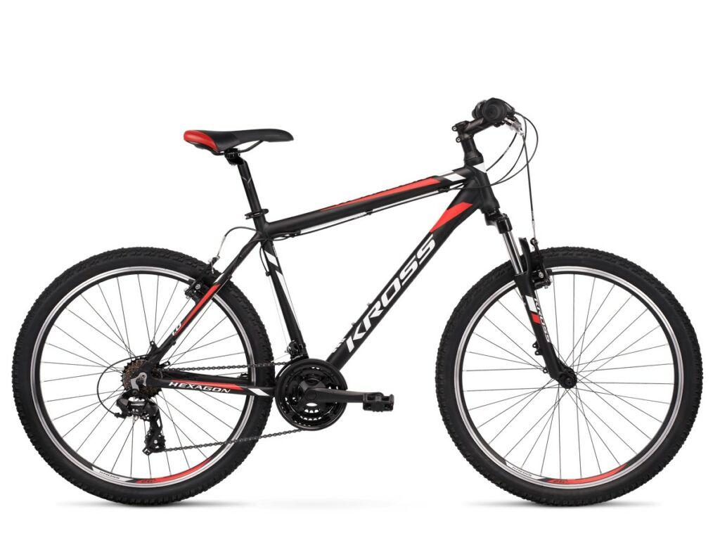 "KROSS Hexagon 1.0 2020 26"" MTB kerékpár, black / white / red"