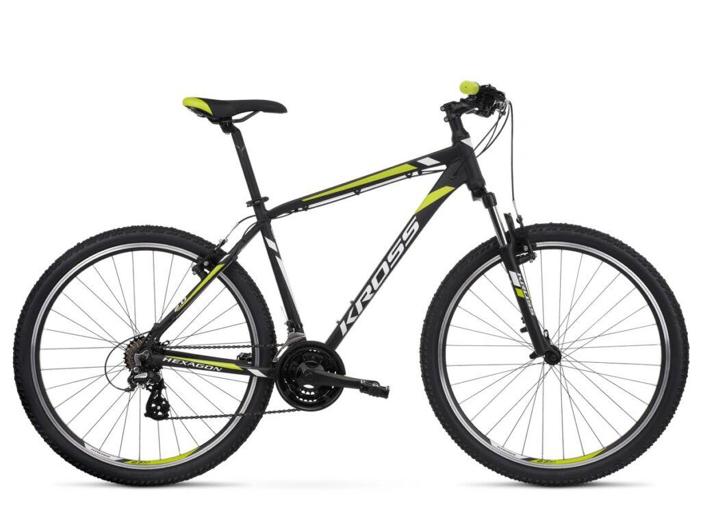 KROSS Hexagon 2.0 2020 MTB kerékpár, black / white / lime