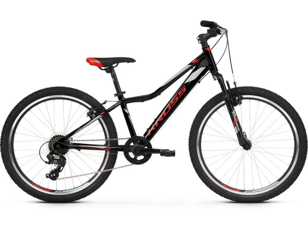 "KROSS Hexagon JR 1.0 2020 / 2021 24"" MTB gyermekkerékpár, black / red / silver"