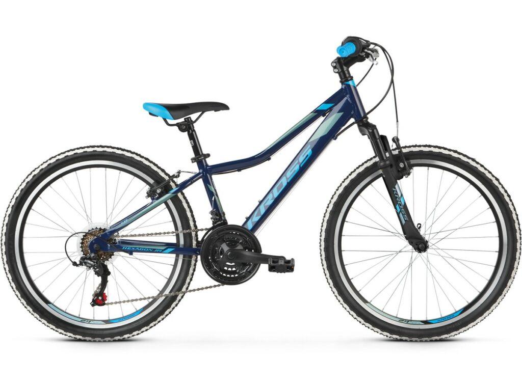 """KROSS Hexagon JR 1.0 2020 / 2021 24"""" MTB gyermekkerékpár, navy blue / steel"""