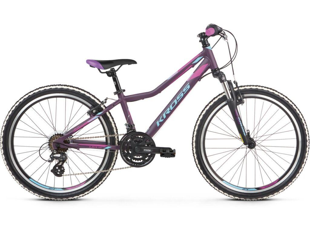 """KROSS Lea JR 2.0 2020 / 2021 24"""" MTB lány gyermekkerékpár, violet / blue"""