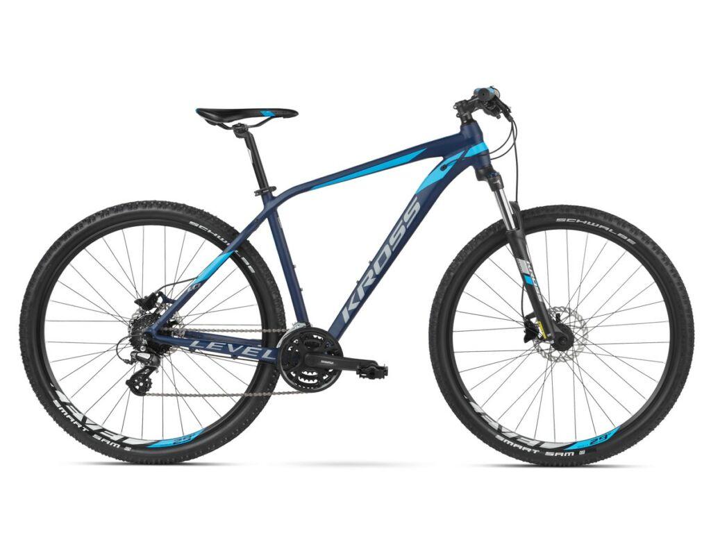 """KROSS Level 1.0 2020 29"""" MTB XC kerékpár, navy blue / blue / silver"""