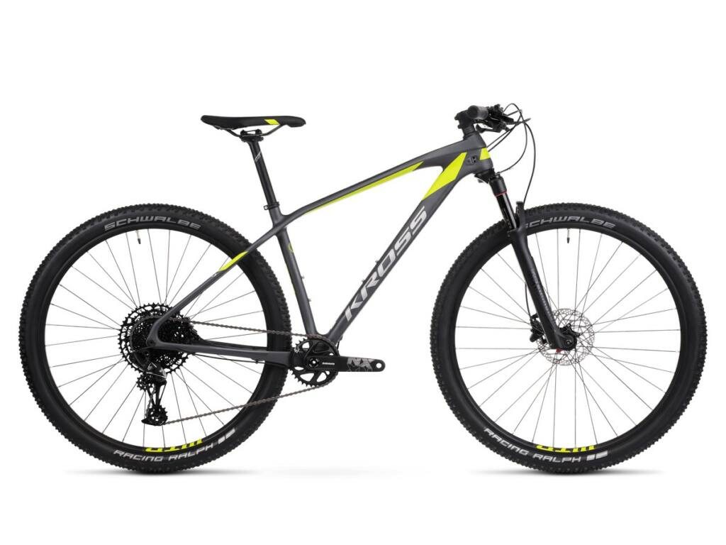 "KROSS Level 12.0 2020 29"" MTB XC kerékpár, graphite / lime / silver"