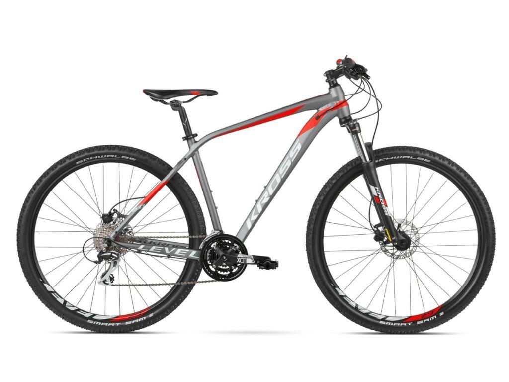 KROSS Level 2.0 2020 MTB XC kerékpár, graphite / red / silver