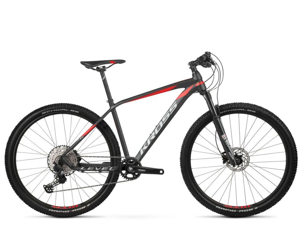 "KROSS Level 8.0 2020 29"" MTB XC kerékpár, black / red / graphite"