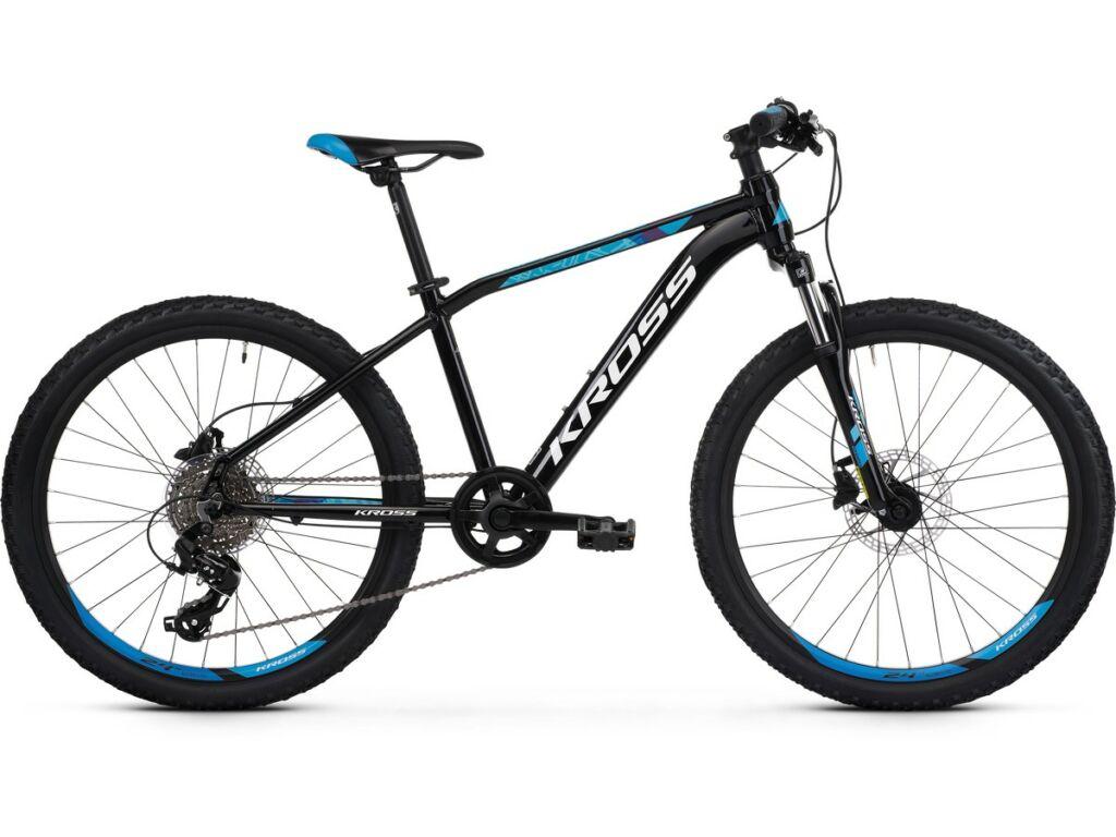"""KROSS Level JR Tokyo 2020 /2021 24"""" MTB gyermekkerékpár, black / blue"""