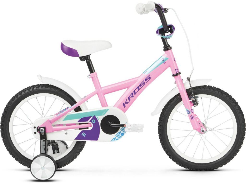 """KROSS Mini 3.0 2020 16"""" gyermekkerékpár, pink / violet / turquoise"""