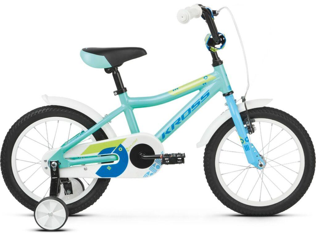 "KROSS Mini 4.0 2020 16"" gyermekkerékpár, turquoise / blue / green"
