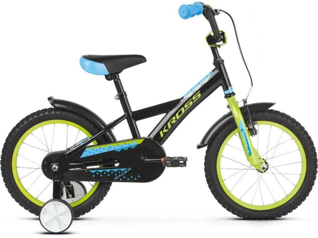 """KROSS Racer 3.0 2020 16"""" gyermekkerékpár, black / lime / blue"""