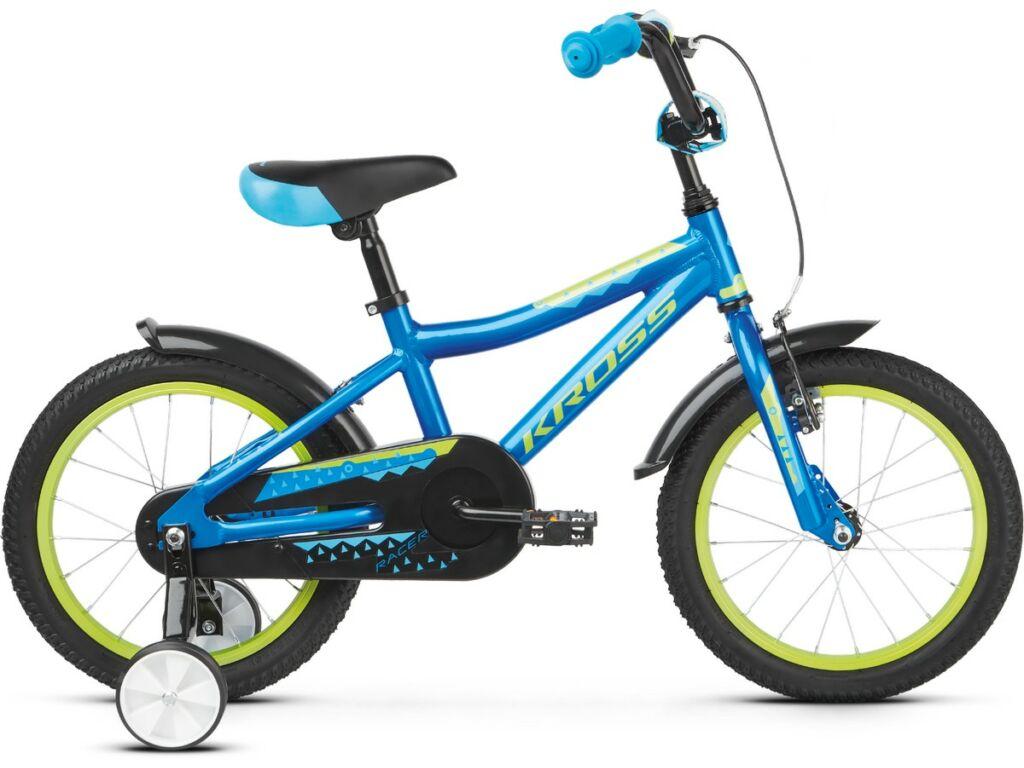 """KROSS Racer 4.0 2020 16"""" gyermekkerékpár, blue / lime"""