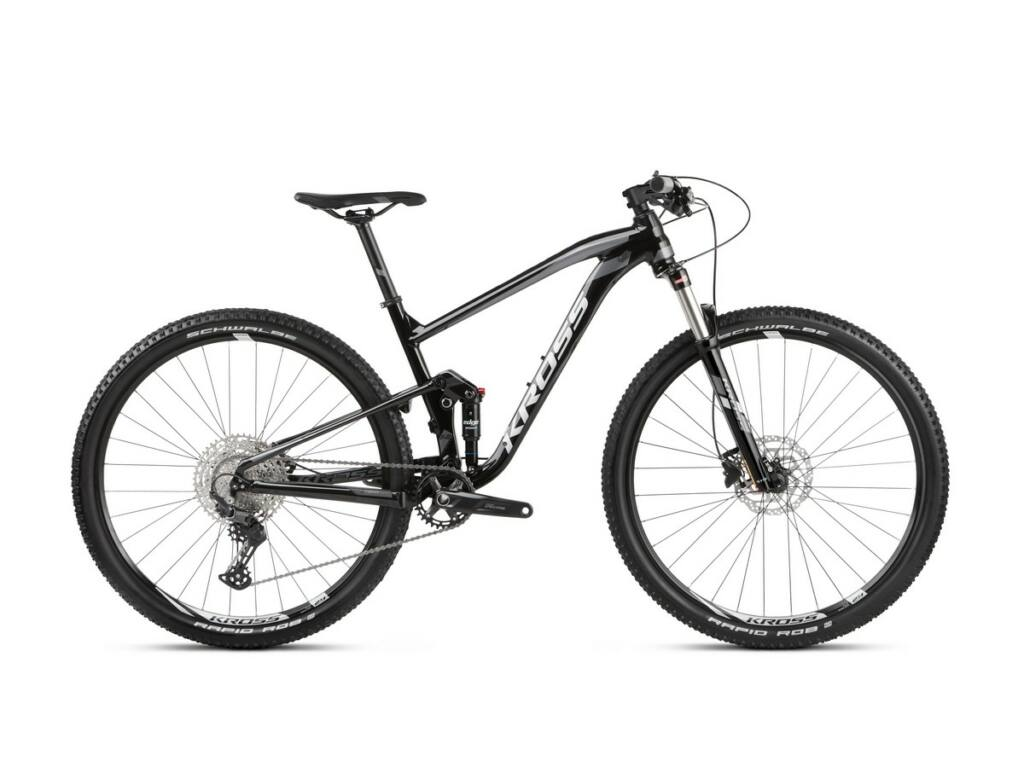 "KROSS Earth 1.0 2021 29"" MTB XC fully kerékpár, black / graphite glossy"
