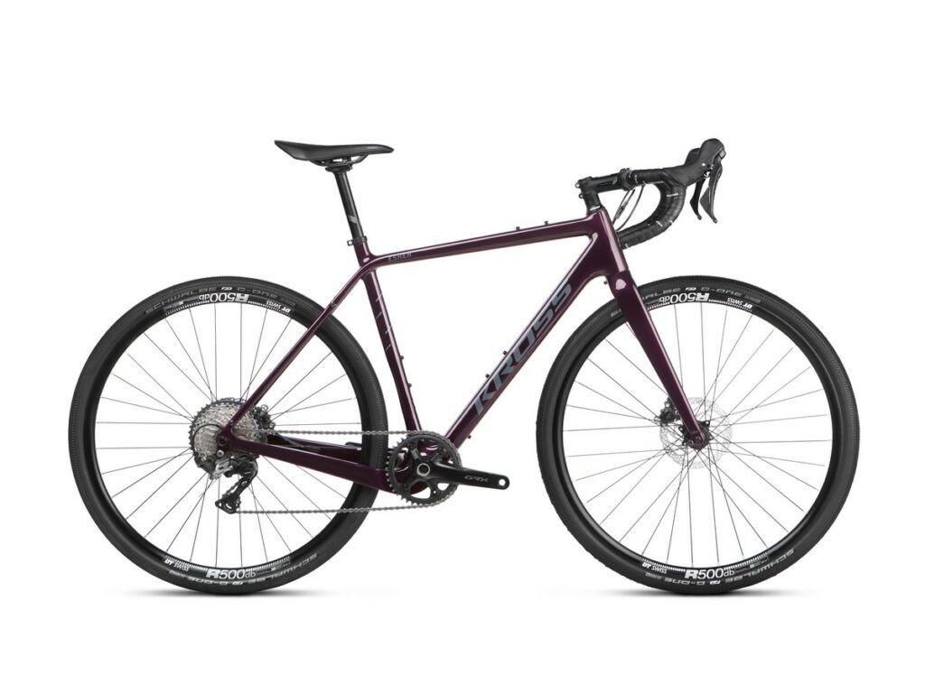 """KROSS Esker 7.0 2021 28"""" gravel kerékpár, purple / silver"""