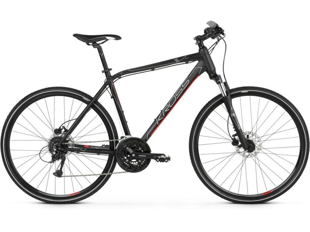 "KROSS Evado 5.0 M 2021 28"" férfi cross kerékpár, black / red"