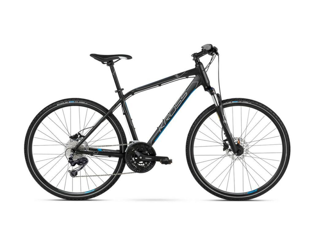 "KROSS Evado 6.0 M 2021 28"" férfi cross kerékpár, black / blue"
