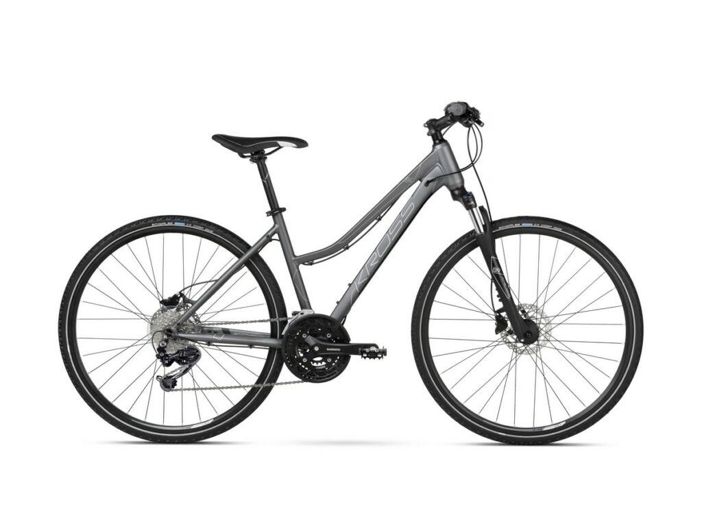 "KROSS Evado 6.0 D 2021 28"" női cross kerékpár, graphite / black"