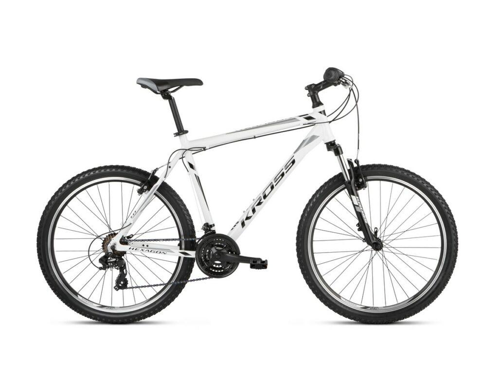 """KROSS Hexagon 1.0 2021 26"""" MTB kerékpár, white / black / gray"""