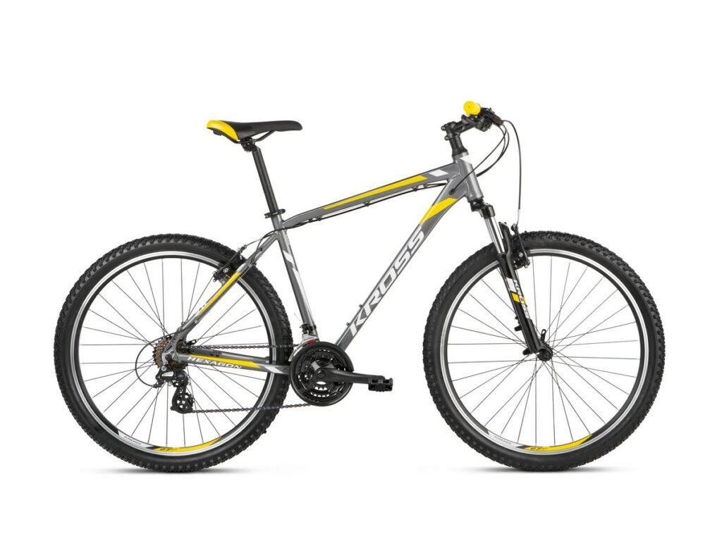 KROSS Hexagon 2.0 2021 MTB kerékpár, graphite / silver / yellow