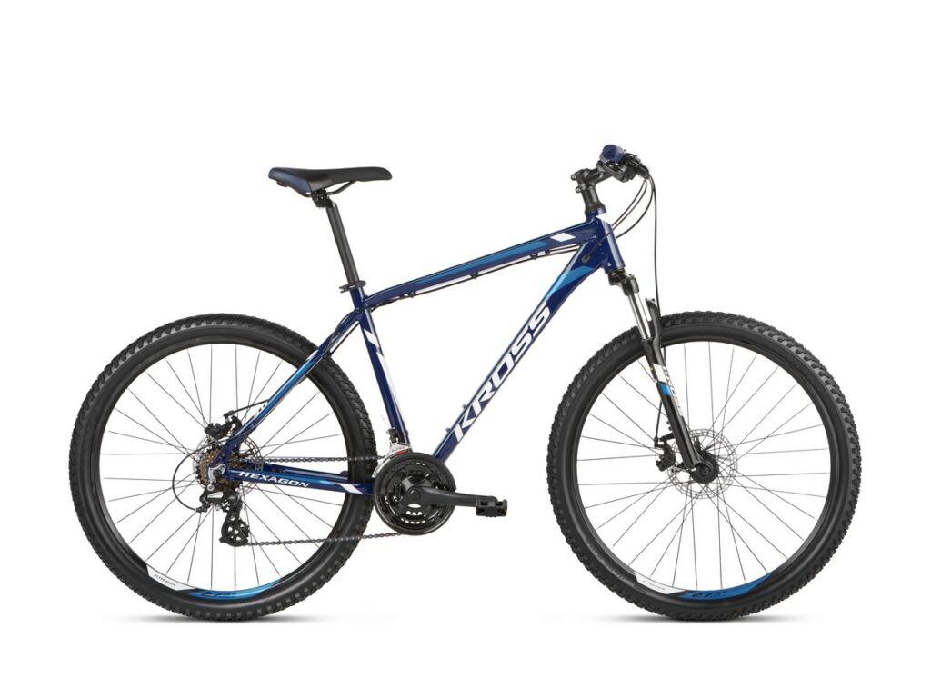 KROSS Hexagon 3.0 2021 MTB kerékpár, navy blue / blue / white