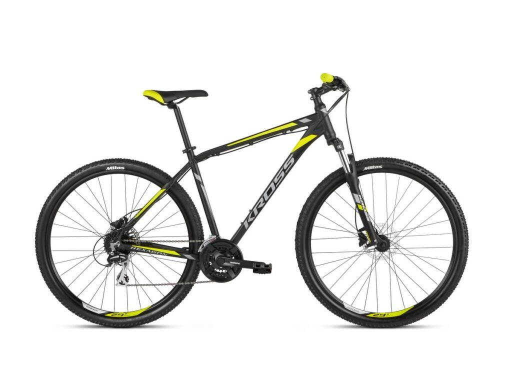 KROSS Hexagon 5.0 2021 MTB kerékpár, black / graphite / lime