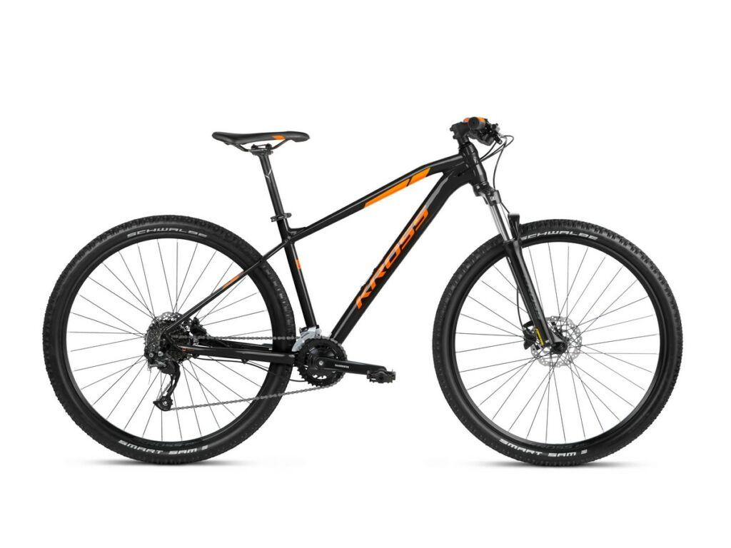 """KROSS Level 1.0 2021 29"""" MTB XC kerékpár, black / orange"""