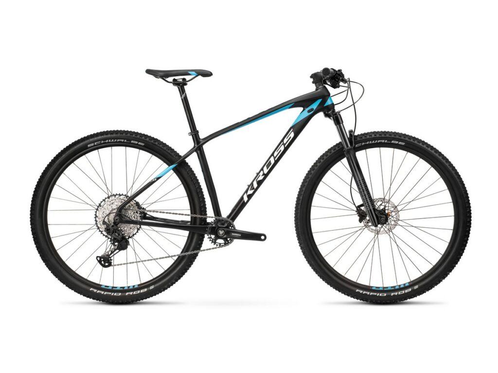 """KROSS Level 11.0 2021 29"""" MTB XC kerékpár, black / blue / white"""