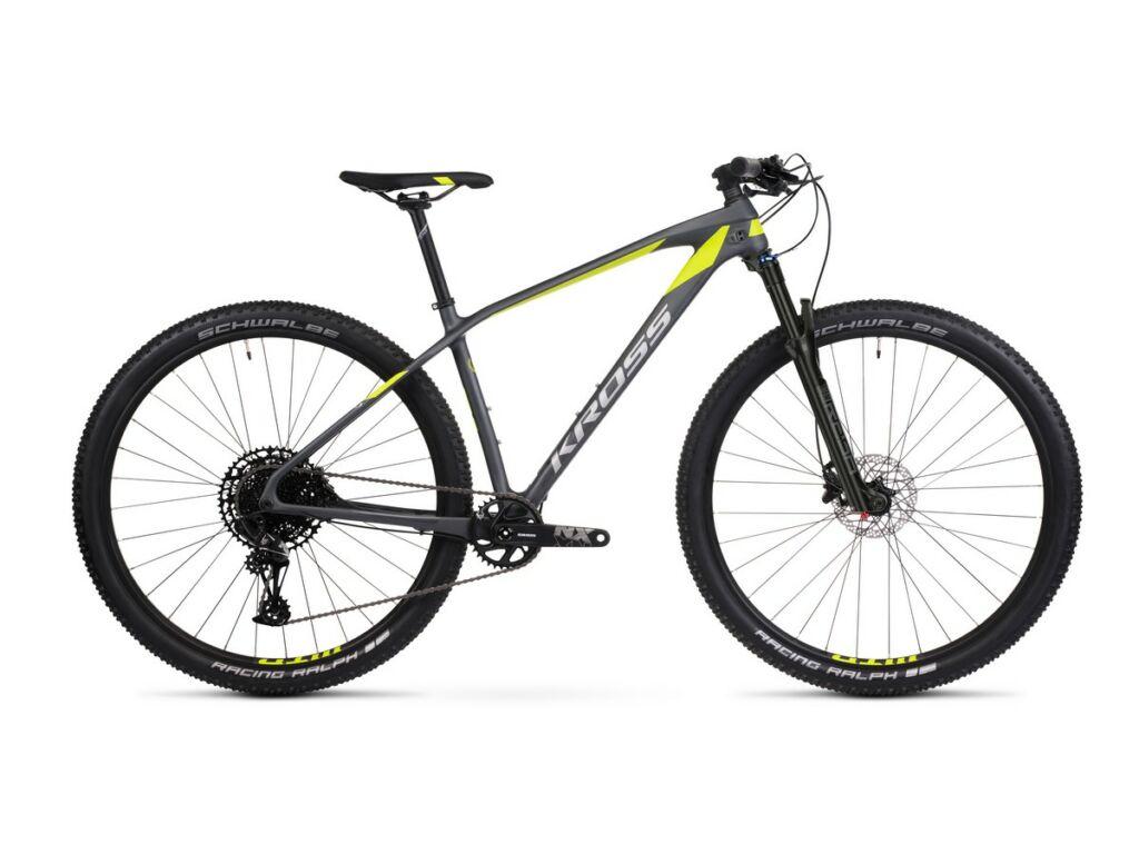 "KROSS Level 12.0 2021 29"" MTB XC kerékpár, graphite / lime / silver"